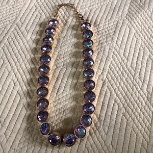 Purple and Gold J. Crew necklace